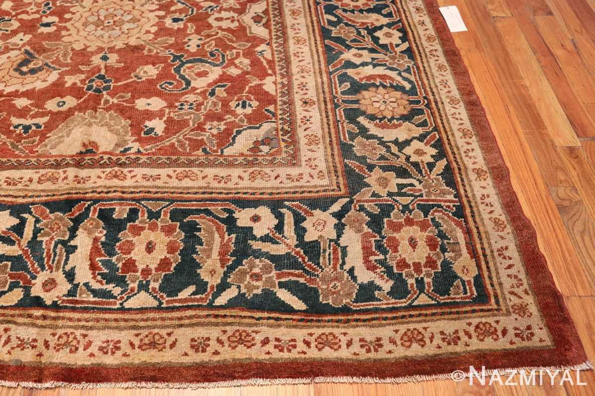 Oversized Antique Persian Sultanabad Rug 49142 Side Corner Nazmiyal