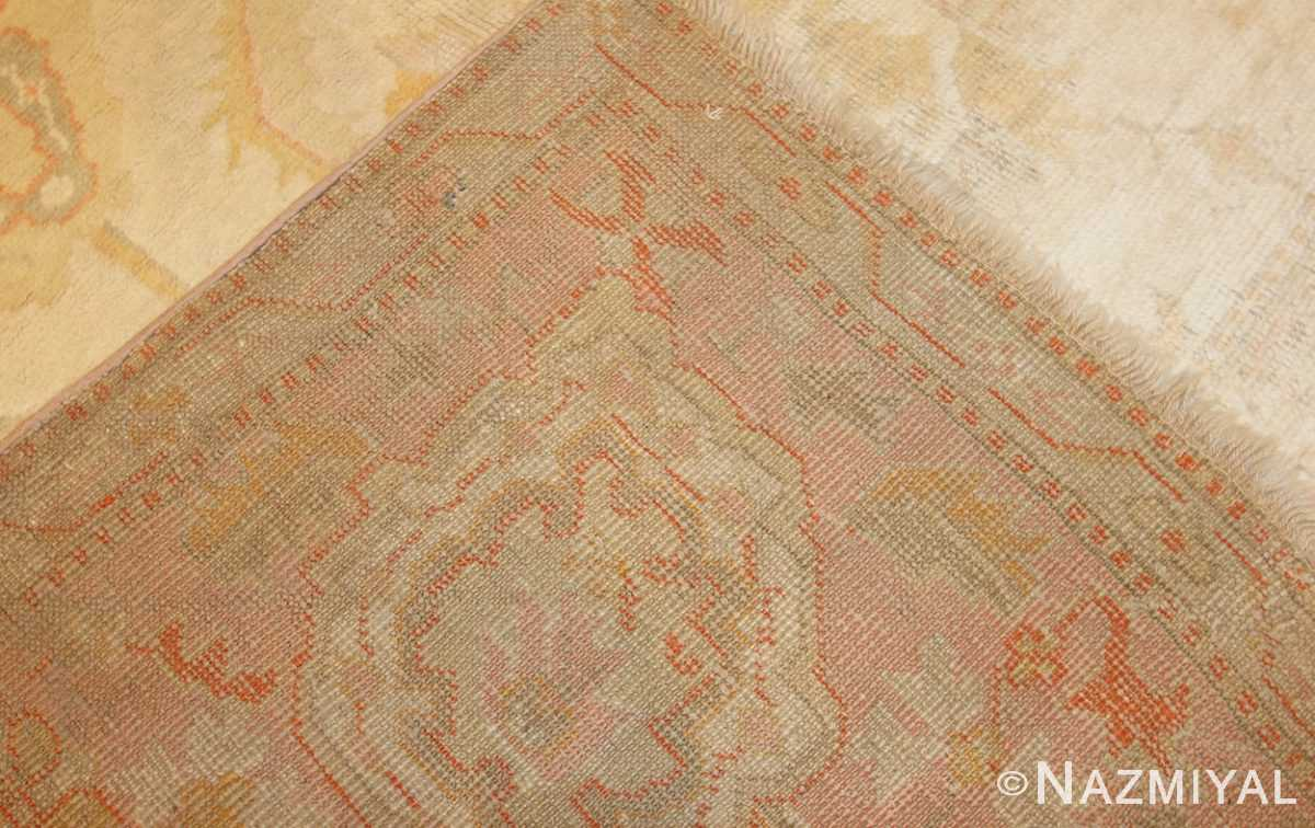 oversized antique turkish oushak rug 49166 weave Nazmiyal
