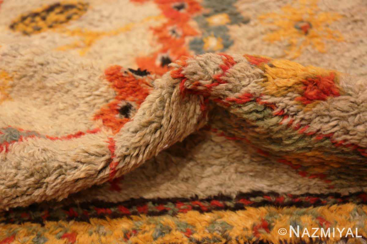 Pile Antique Turkish Oushak rug with Arts and crafts design 49146 by Nazmiyal