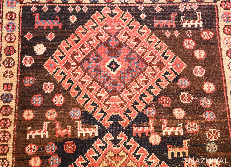 shabby chic antique persian kurdish rug 49150 animals Nazmiyal