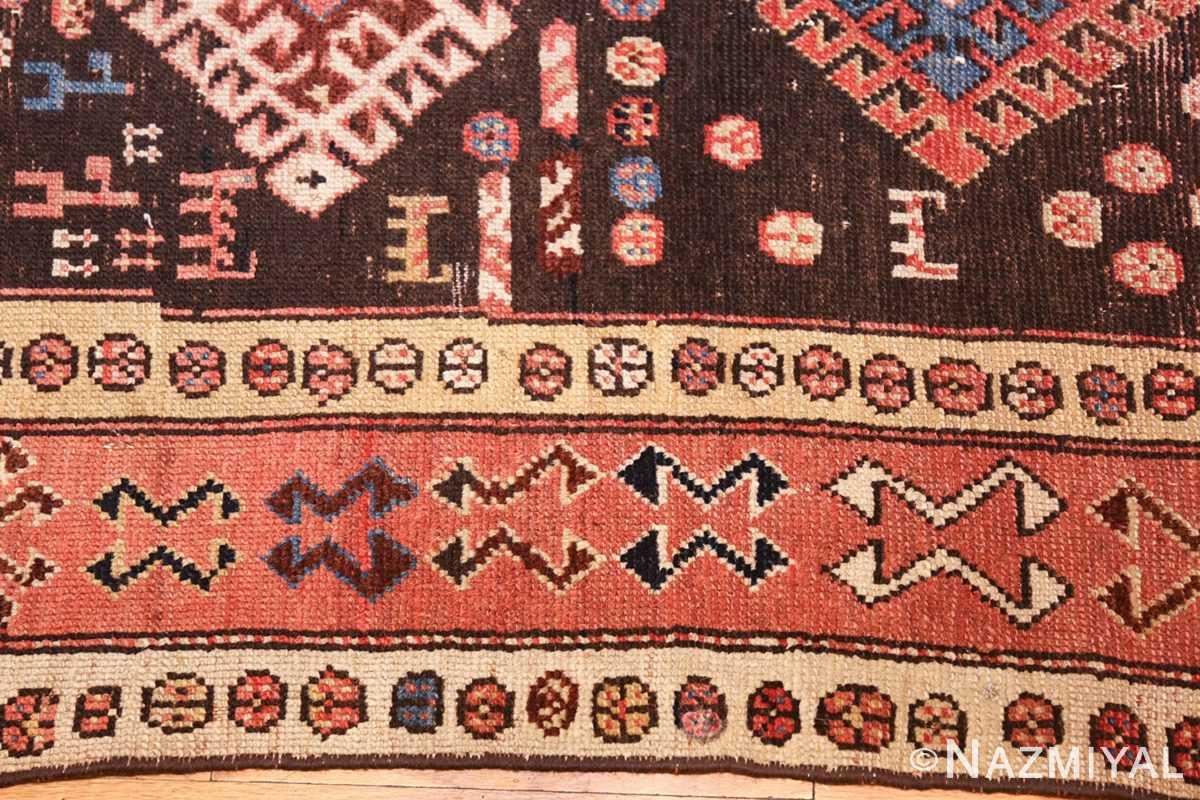 shabby chic antique persian kurdish rug 49150 border Nazmiyal