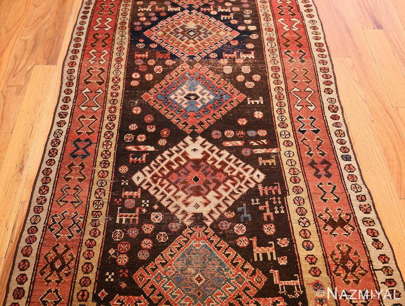 shabby chic antique persian kurdish rug 49150 field Nazmiyal