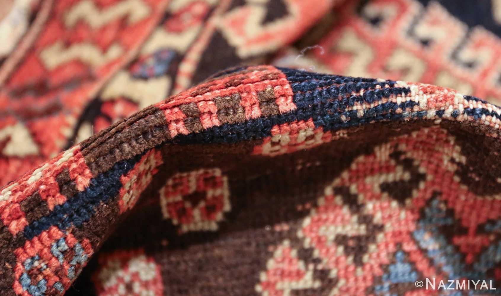 shabby chic antique persian kurdish rug 49150 pile Nazmiyal