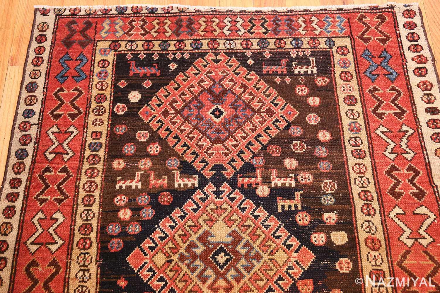shabby chic antique persian kurdish rug 49150 top Nazmiyal