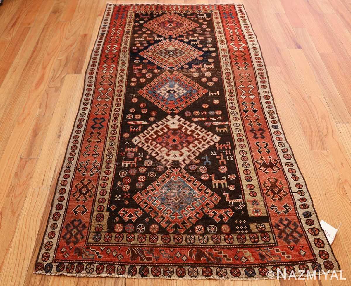 shabby chic antique persian kurdish rug 49150 whole Nazmiyal