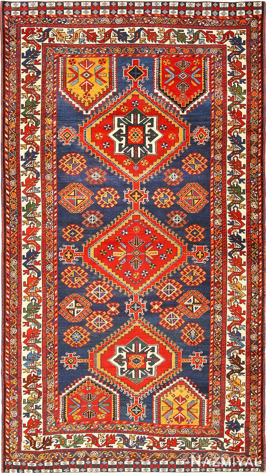 Small Antique Tribal Qashqai Persian Rug 49152