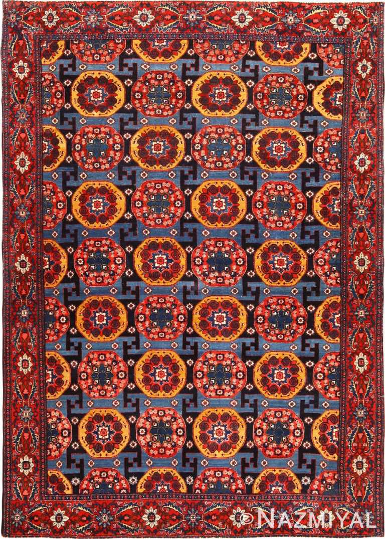 Fine Antique Persian Senneh Rug 49106 by Nazmiyal