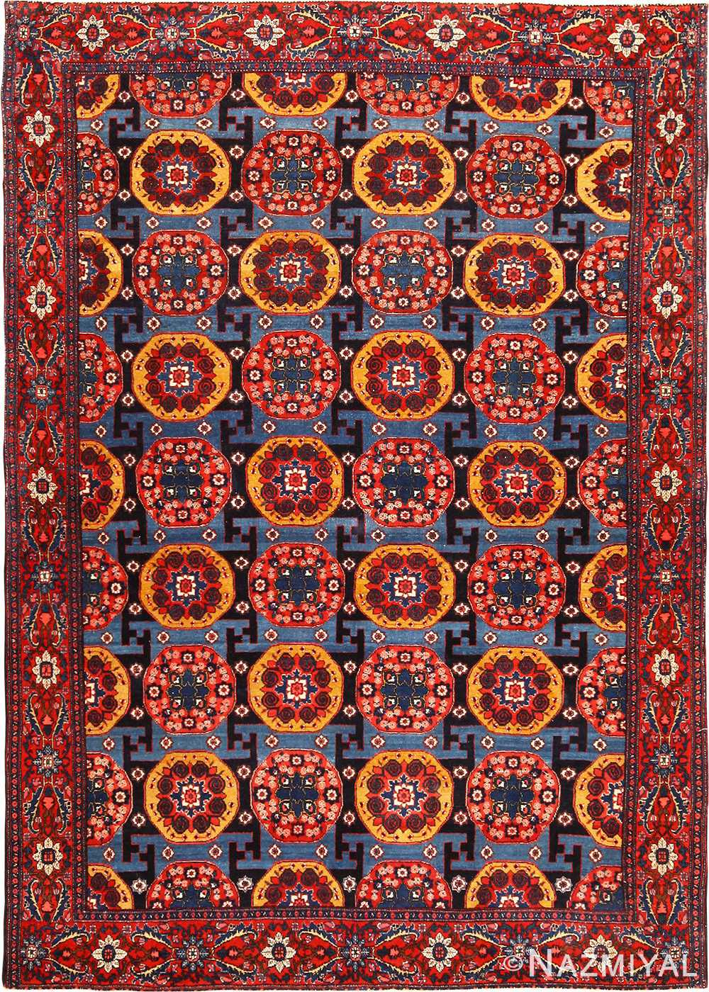 Fine Antique Persian Senneh Rug 49106 by Nazmiyal