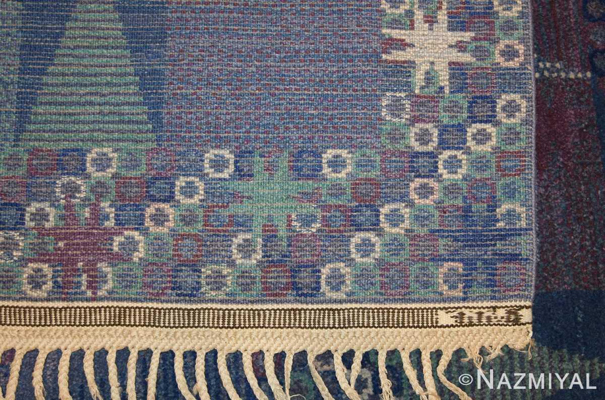 Vintage Marta Maas Fjetterstrom Scandinavian Rug 46847 Weave Nazmiyal