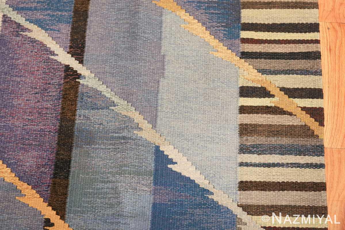 vintage scandinavian swedish kilim rug by ann marie hoke sodra kalma lans hemslojd 49131 border Nazmiyal
