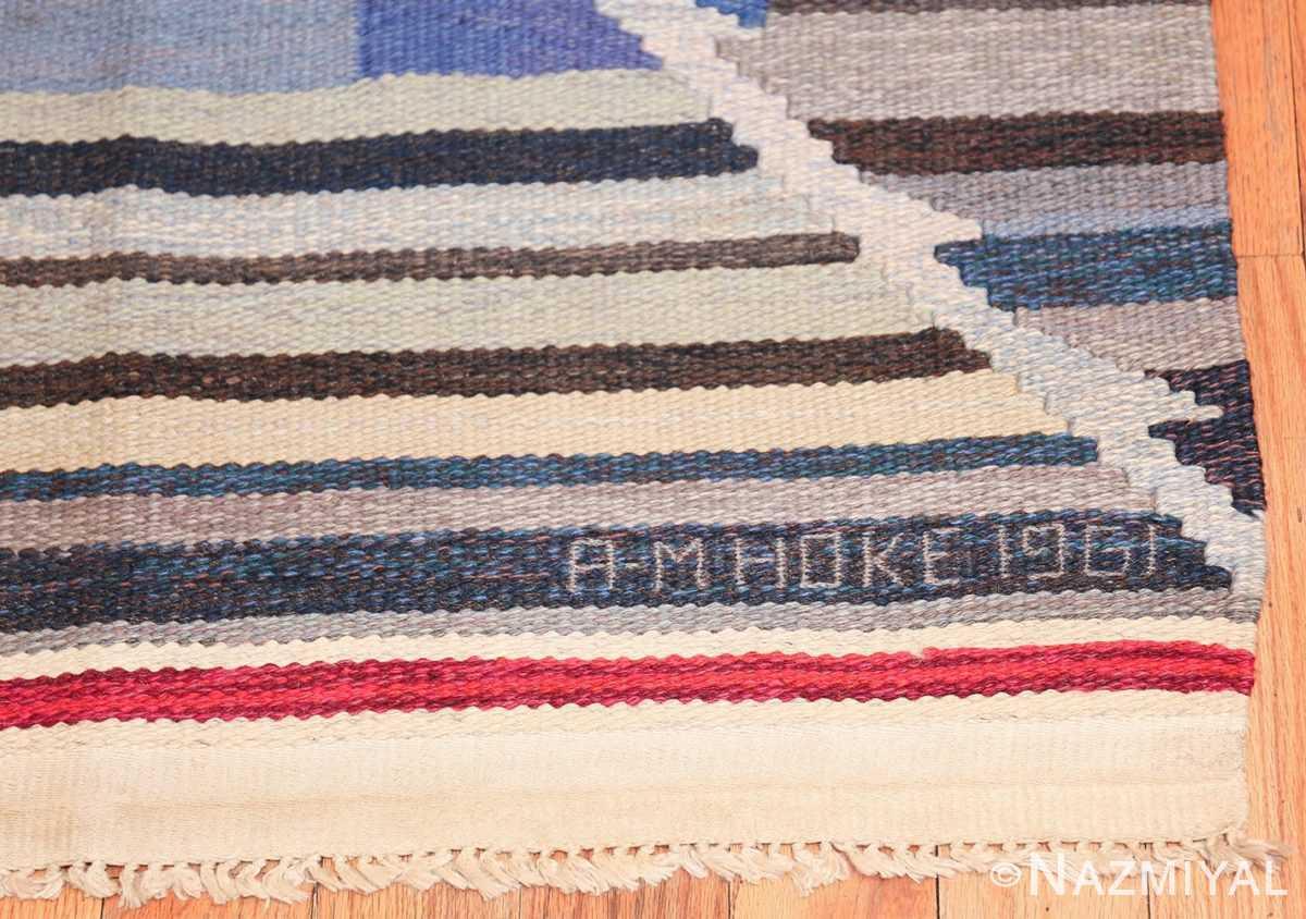 vintage scandinavian swedish kilim rug by ann marie hoke sodra kalma lans hemslojd 49131 date Nazmiyal