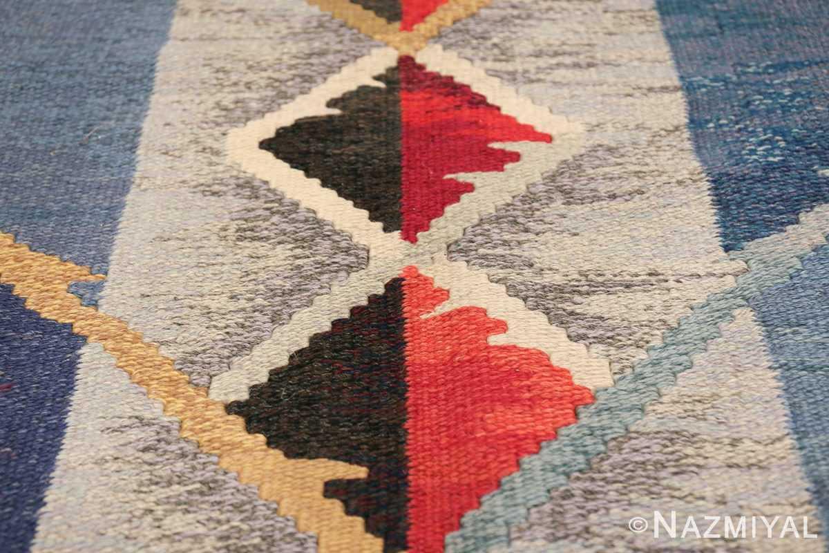 vintage scandinavian swedish kilim rug by ann marie hoke sodra kalma lans hemslojd 49131 diamond Nazmiyal