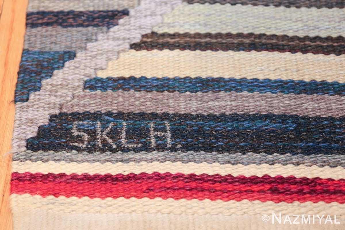 vintage scandinavian swedish kilim rug by ann marie hoke sodra kalma lans hemslojd 49131 field Nazmiyal