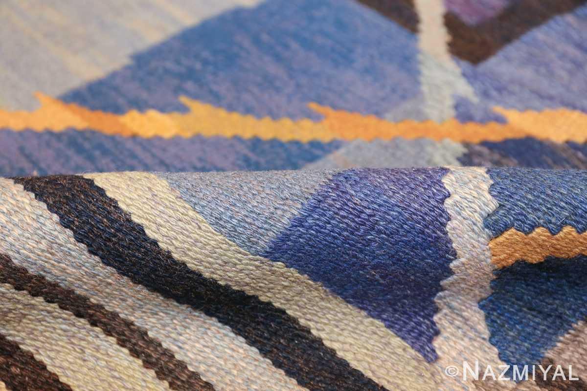 vintage scandinavian swedish kilim rug by ann marie hoke sodra kalma lans hemslojd 49131 pile Nazmiyal