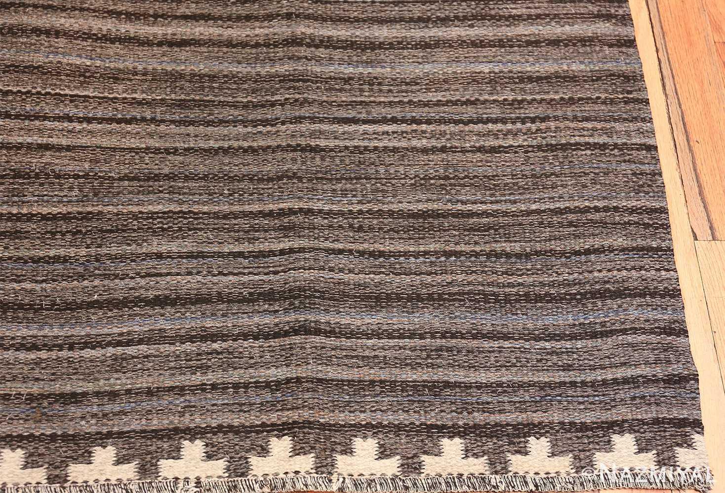 Vintage Scandinavian Swedish kilim rug by Rakel Callander 49130 corner Nazmiyal