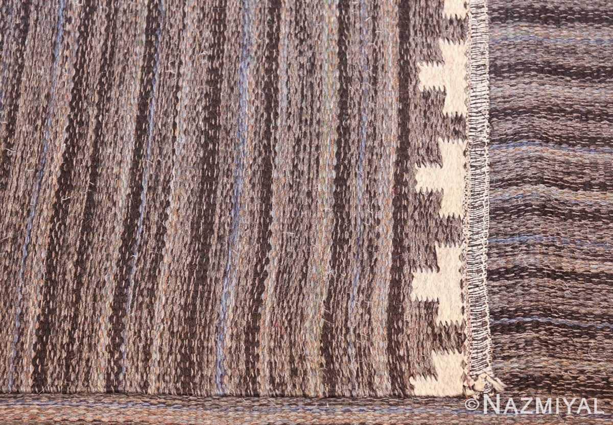 Vintage Scandinavian Swedish kilim rug by Rakel Callander 49130 knots Nazmiyal
