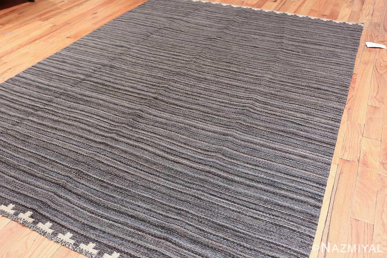 Vintage Scandinavian Swedish kilim rug by Rakel Callander 49130 side Nazmiyal