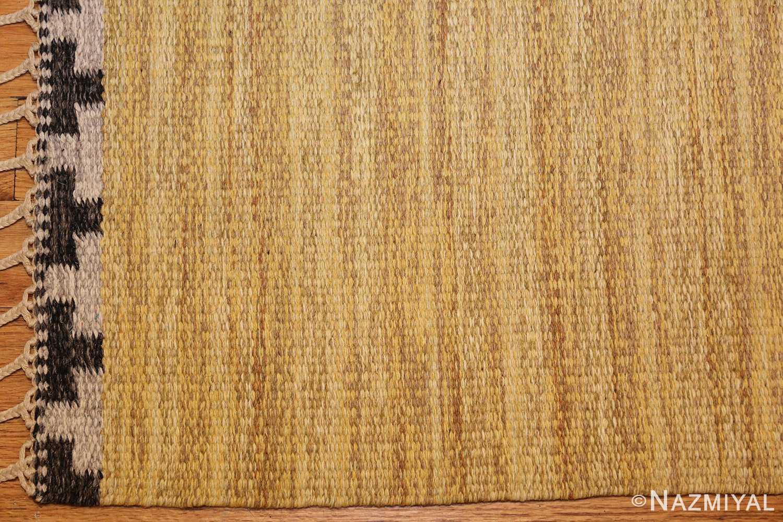 vintage scandinavian swedish kilim rug by rakel callander 49132 corner Nazmiyal