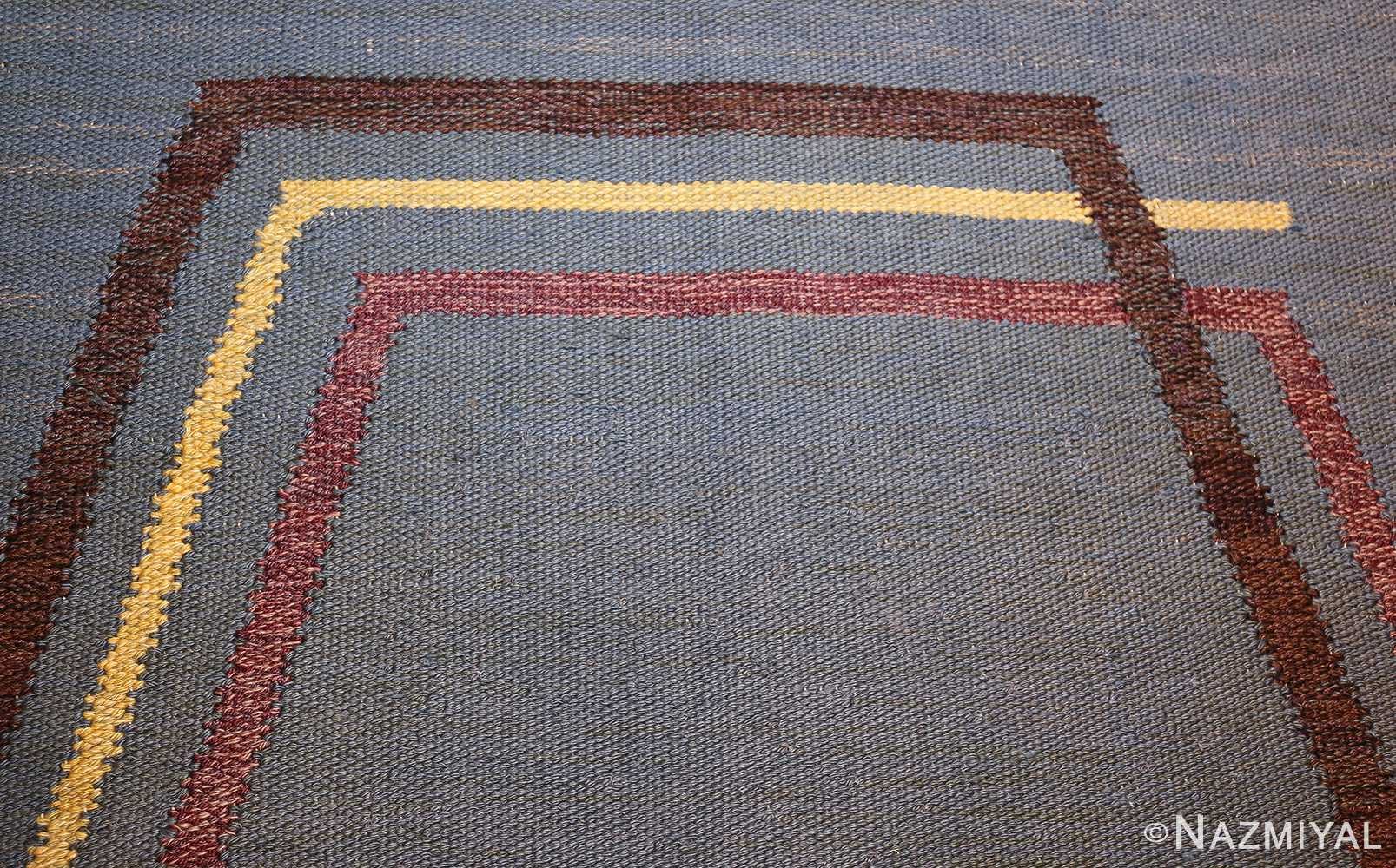 vintage swedish kilim rug by brita grahn 49119 top Nazmiyal