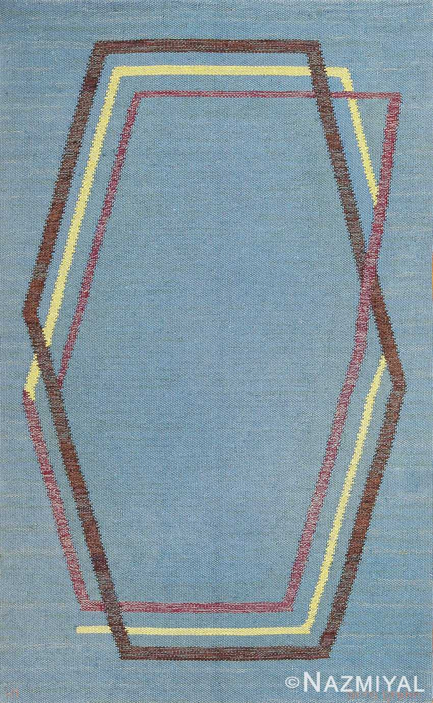 vintage swedish kilim rug by brita grahn 49119 Nazmiyal