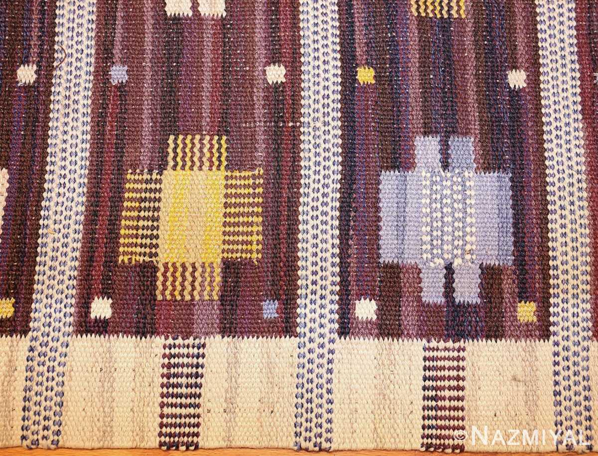 vintage swedish kilim rug by marianne richter for marta maas 49117 border Nazmiyal