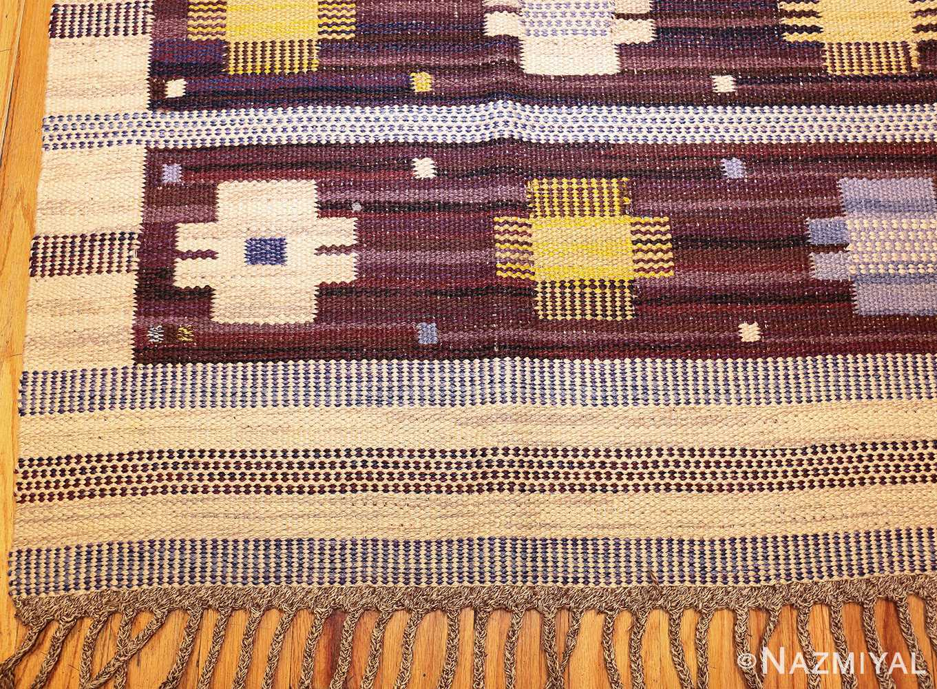 vintage swedish kilim rug by marianne richter for marta maas 49117 corner Nazmiyal