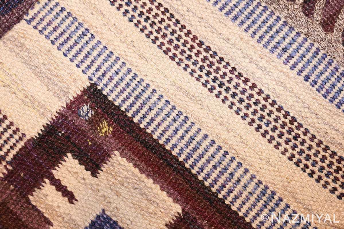 vintage swedish kilim rug by mariann richter for marta maas 49117 weave Nazmiyal