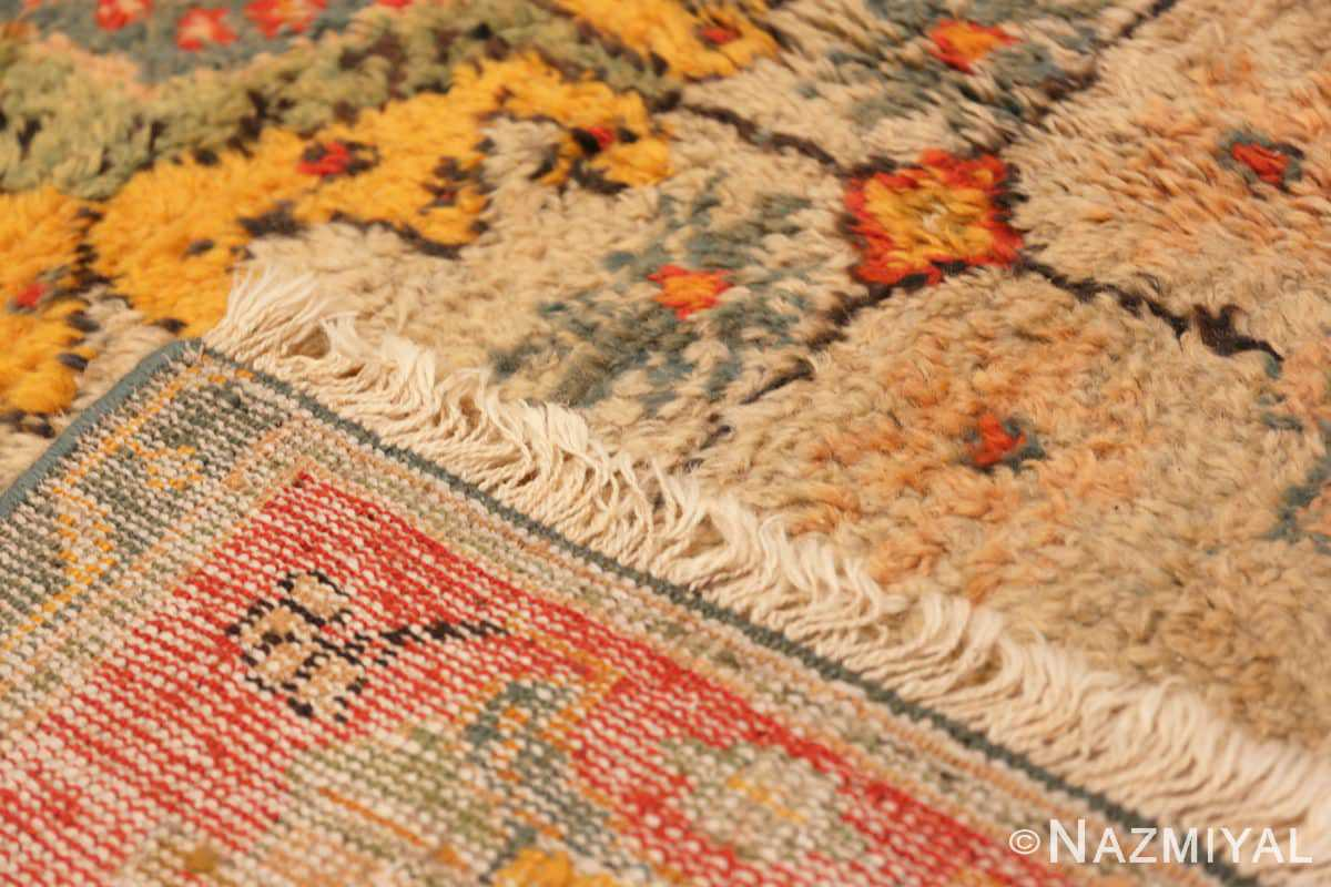 Weave Antique Turkish Oushak rug with Arts and Crafts design 49146 by Nazmiyal