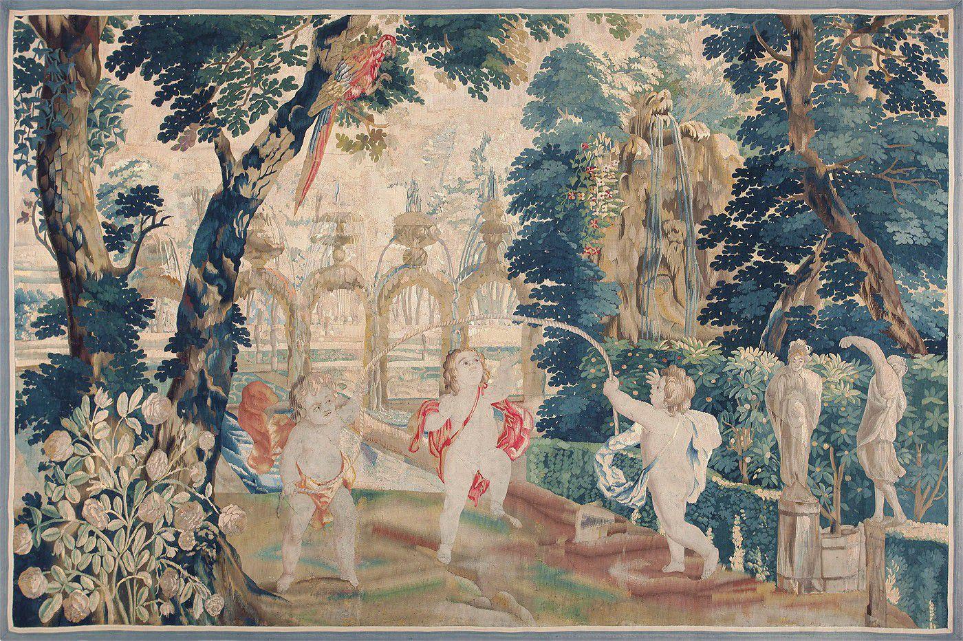 antique 18th century flemish tapestry