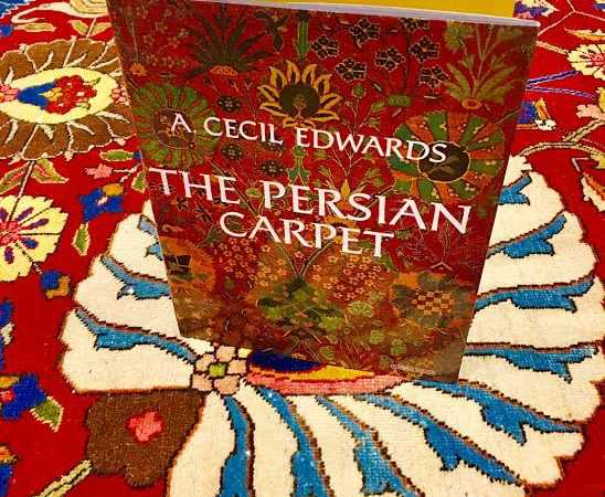 Persian Carpet Book by a cecil edwards nazmiyal