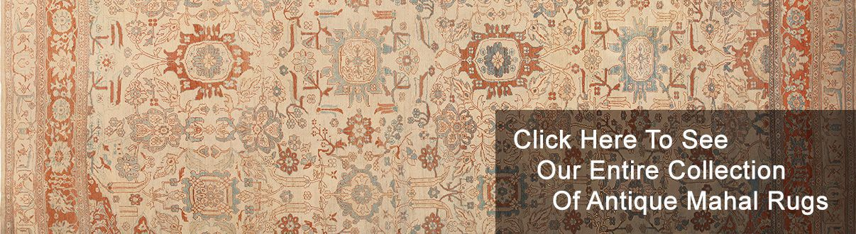 Antique Classic Traditional Persian Mahal Rugs Nazmiyal