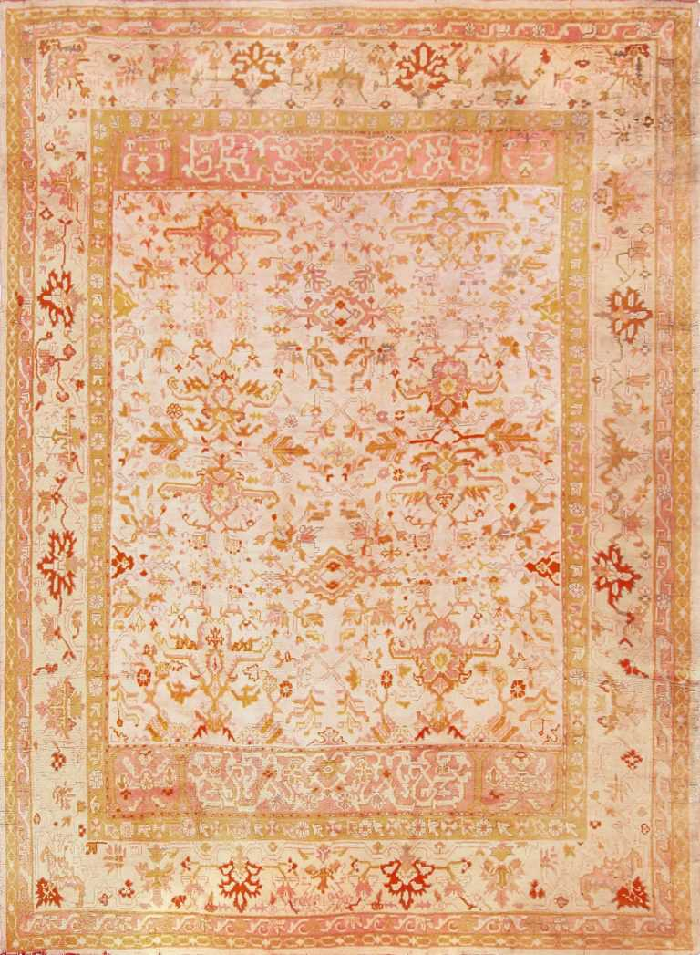 antique turkish oushak rug 49188 Nazmiyal
