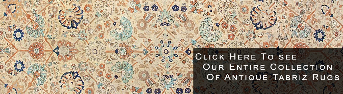 Classic Antique Traditional Persian Tabriz Rugs by Nazmiyal