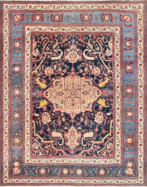Fine Antique Persian Sarouk Farahan Rug 49107