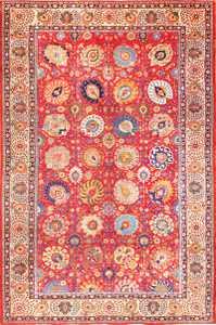 large antique vase design persian tabriz rug 49196 Nazmiyal