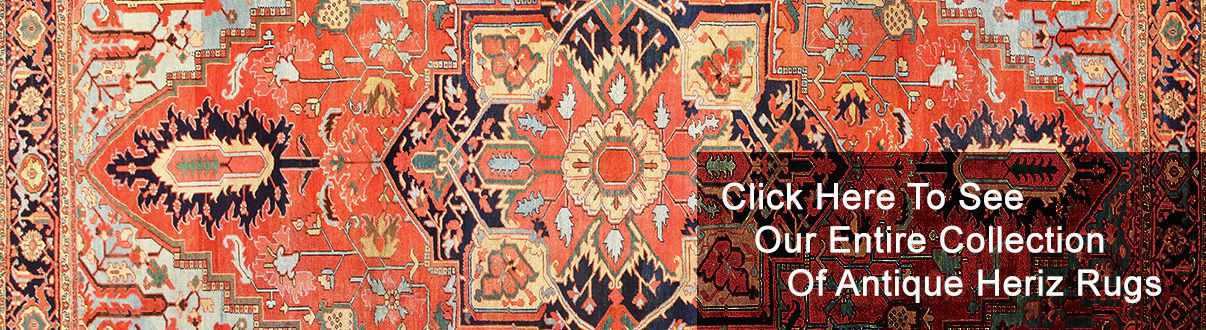 Traditional Classic Antique Persian Heriz Rugs by Nazmiyal