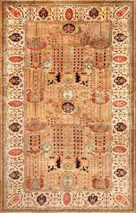 vintage indian agra rug 49186 Nazmiyal