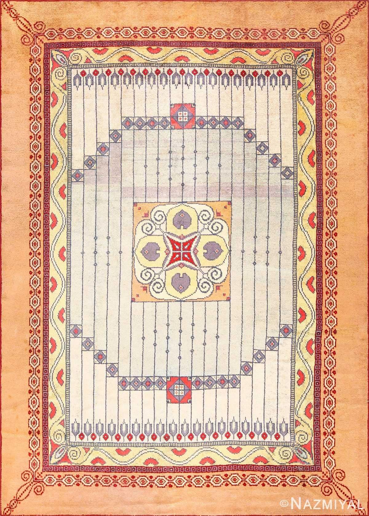 antique austrian art nouveau rug 49195 Nazmiyal