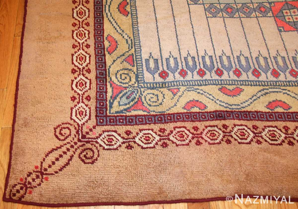 antique austrian art nouveau rug 49195 corner Nazmiyal