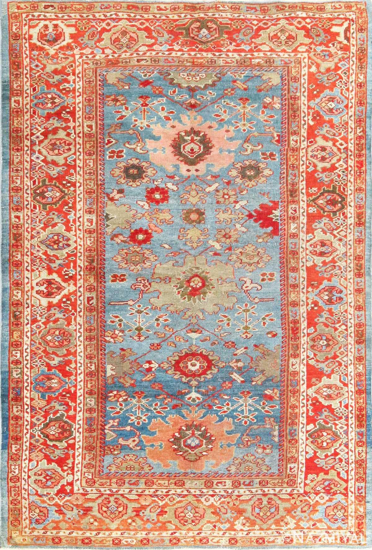 antique blue background persian sultanabad rug 49209 Nazmiyal