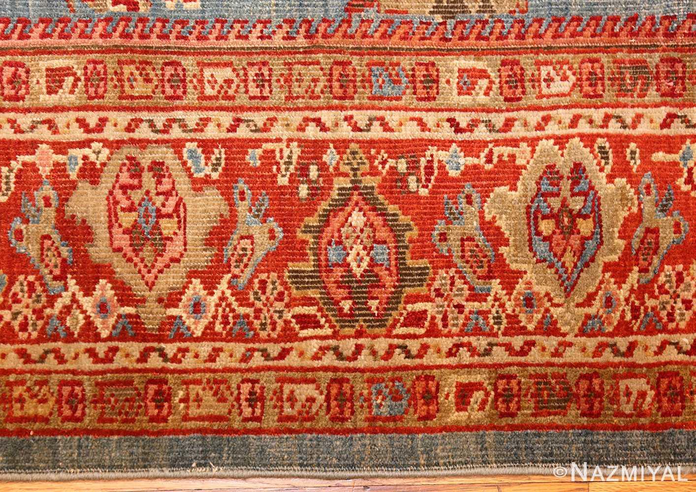 antique blue background persian sultanabad rug 49209 border Nazmiyal