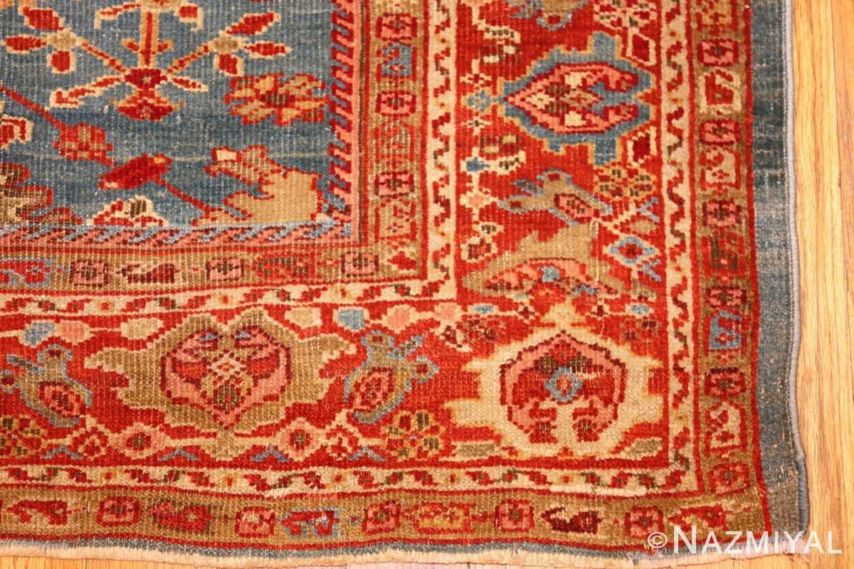 antique blue background persian sultanabad rug 49209 corner Nazmiyal