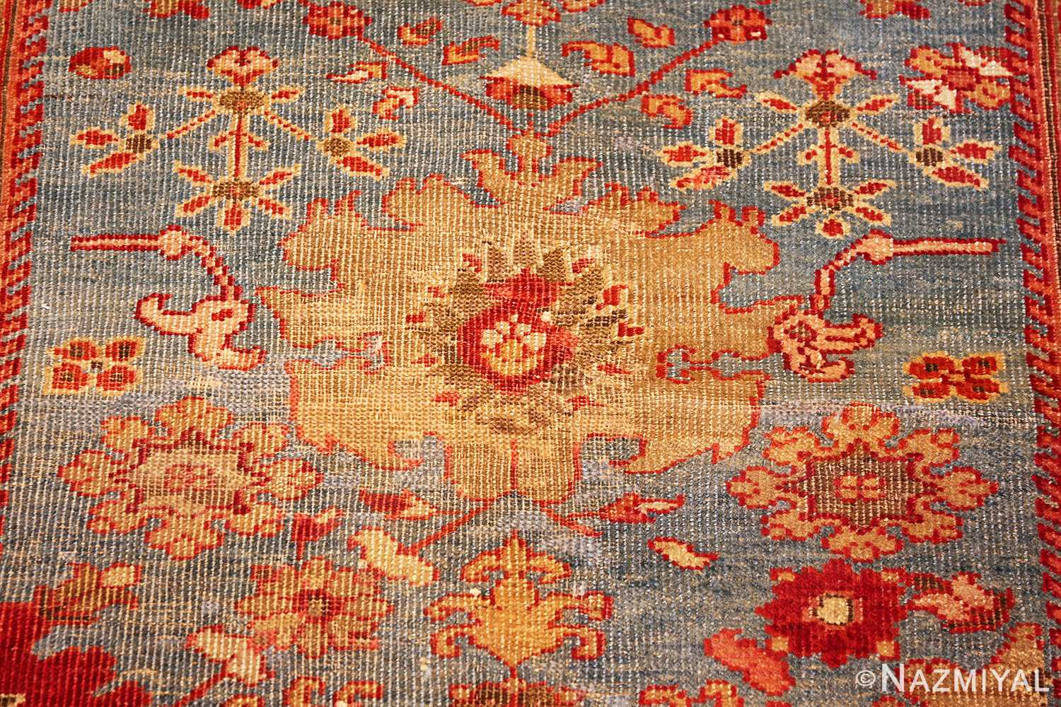 antique blue background persian sultanabad rug 49209 medallion Nazmiyal