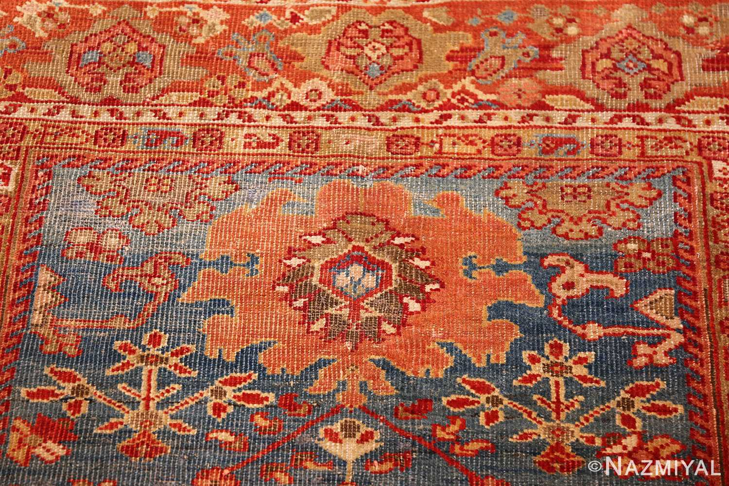antique blue background persian sultanabad rug 49209 top Nazmiyal