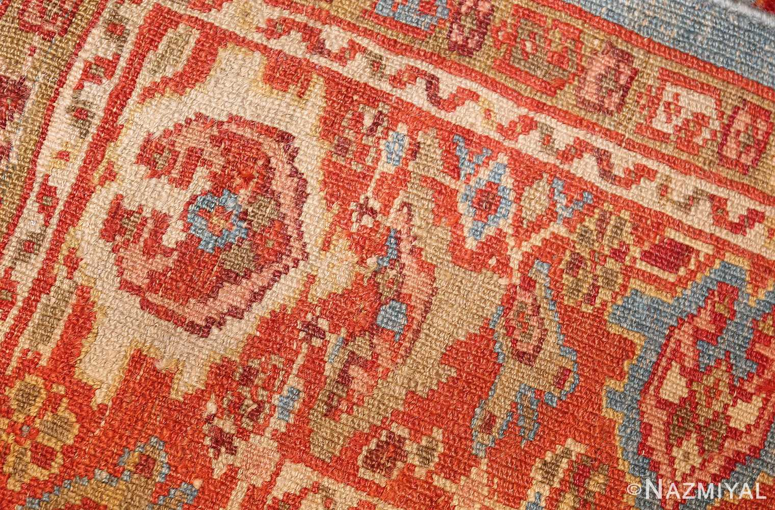 antique blue background persian sultanabad rug 49209 weave Nazmiyal