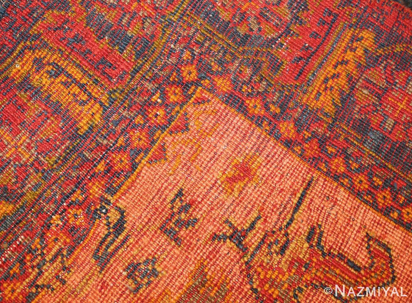 antique blue background turkish oushak rug 49108 weave Nazmiyal