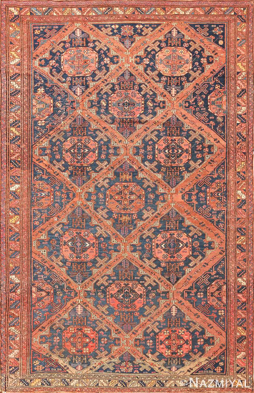 Antique Caucasian Soumak Rug 50729 Nazmiyal
