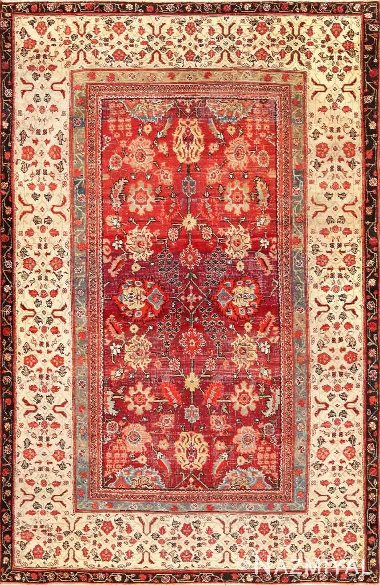 antique indian agra rug 49185 Nazmiyal
