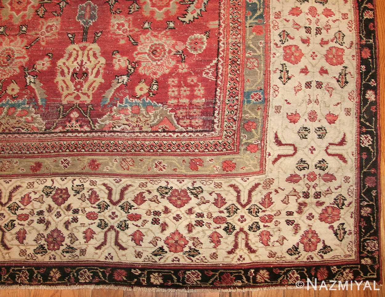 antique indian agra rug 49185 corner edited Nazmiyal