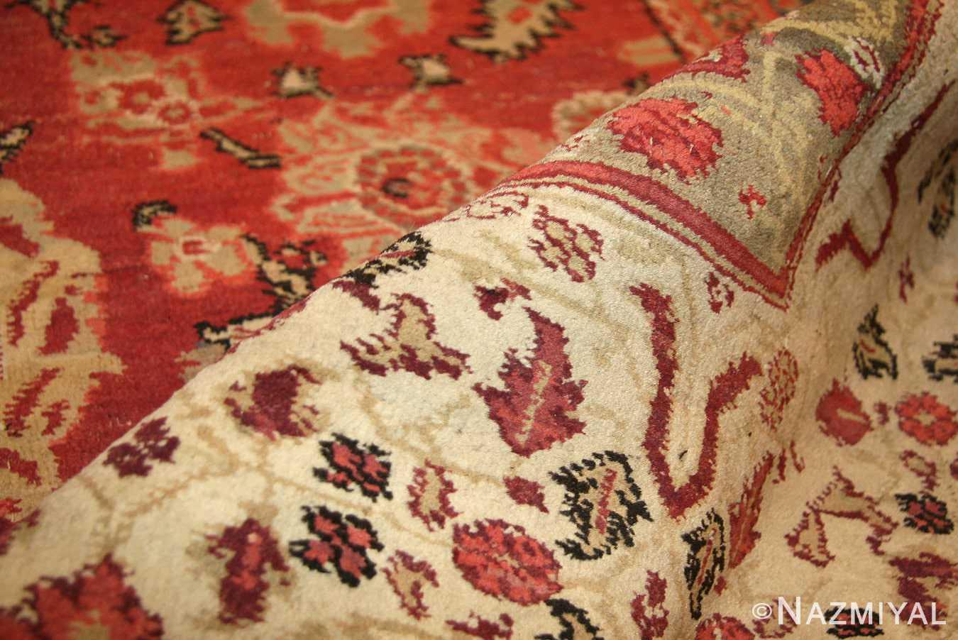 antique indian agra rug 49185 pile edited Nazmiyal